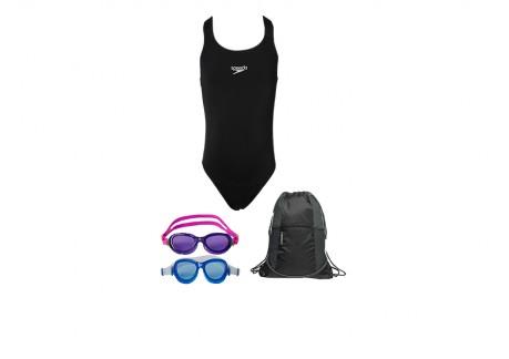Svømmepakke Dragt - brille - pose - Pige